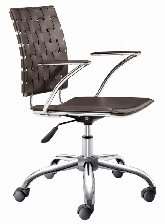 Criss Cross Office Chair - Espresso - Zuo Modern