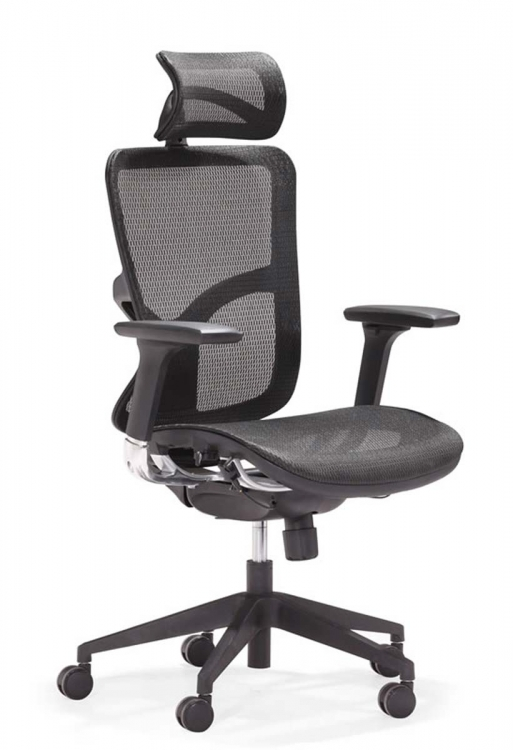 Harlean High Back Office Chair - Black - Zuo Modern