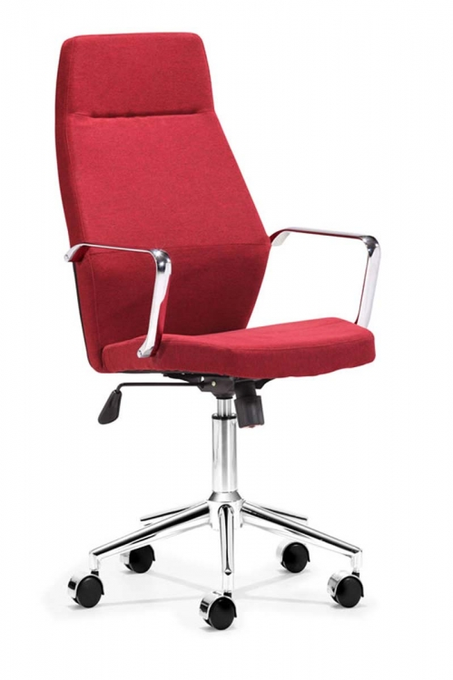 Holt High Back Office Chair - Red - Zuo Modern