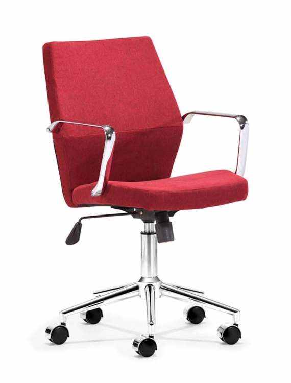 Holt Low Back Office Chair - Red - Zuo Modern