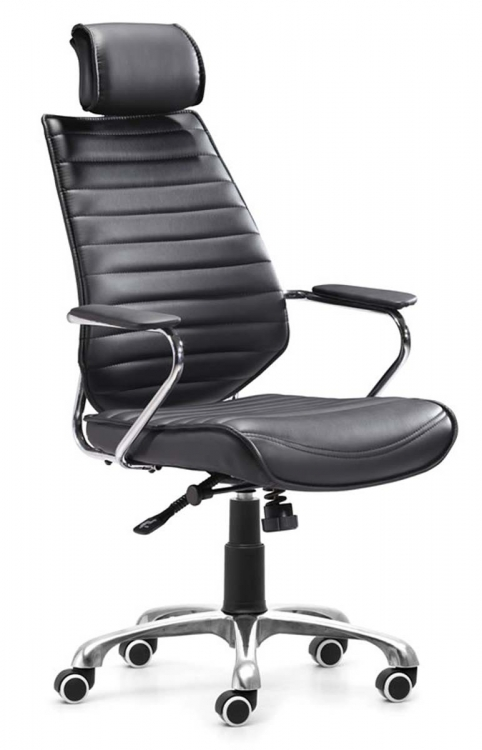 Enterprise High Back Office Chair - Black - Zuo Modern