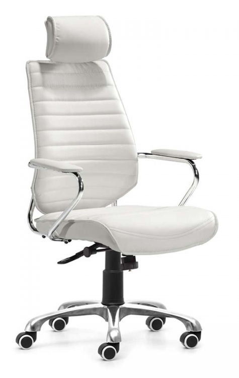 Enterprise High Back Office Chair - White - Zuo Modern