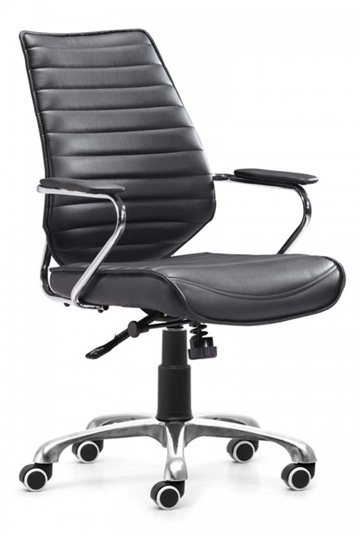 Enterprise Low Back Office Chair - Black - Zuo Modern
