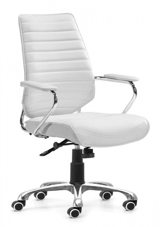Enterprise Low Back Office Chair - White