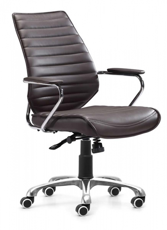 Enterprise Low Back Office Chair - Espresso