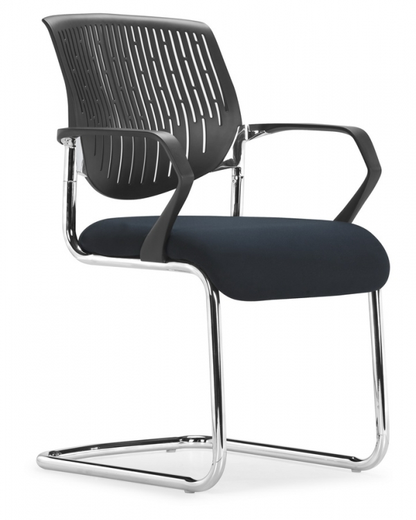 Synergy Sled Conference Chair - Black - Zuo Modern
