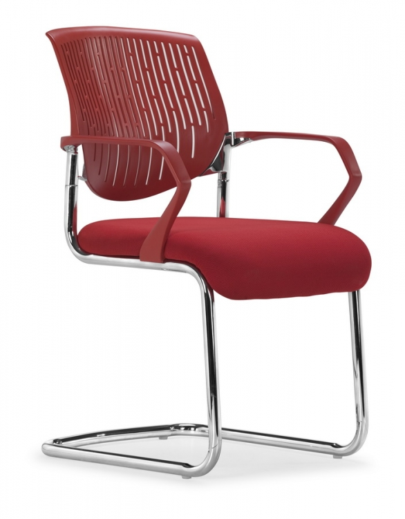 Synergy Sled Conference Chair - Red