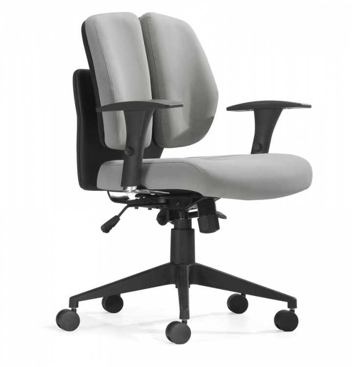 Aqua Office Chair - Gray - Zuo Modern