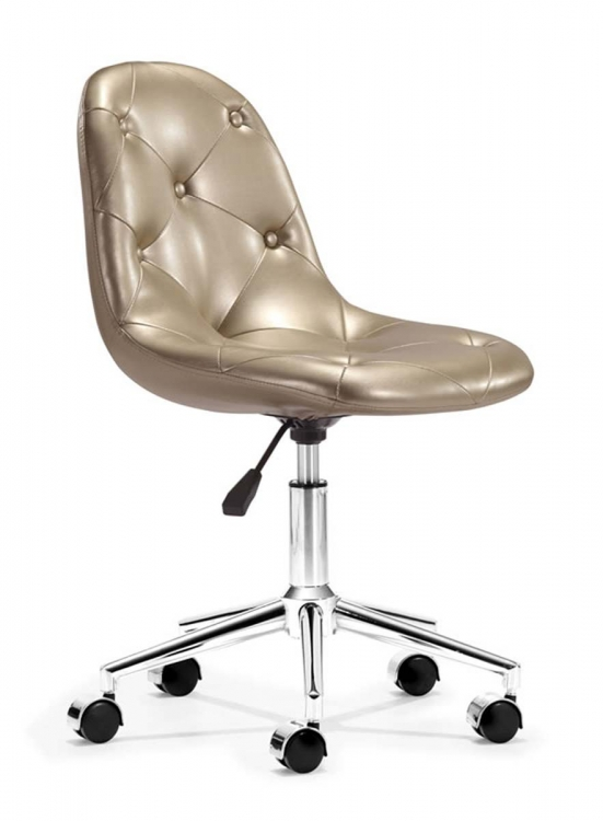 Life Office Chair - Gold - Zuo Modern