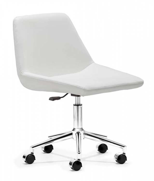 Zen Office Chair - White - Zuo Modern