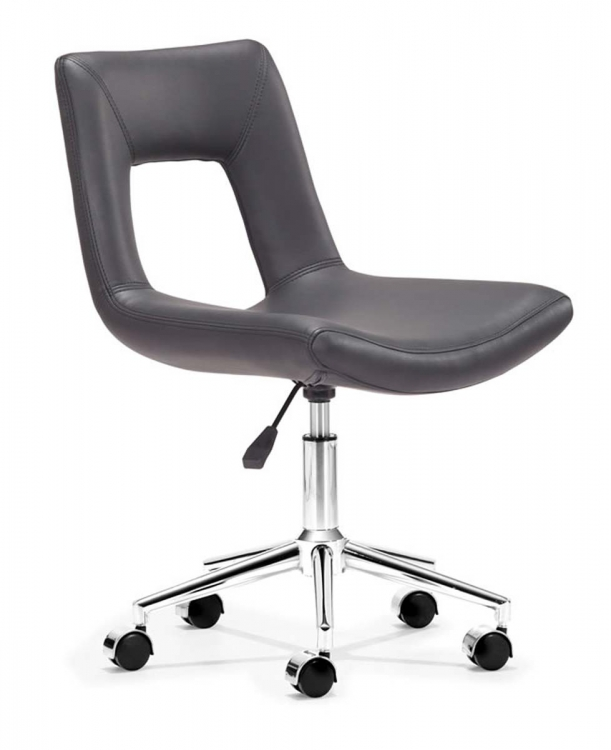 Wringer Office Chair - Black - Zuo Modern