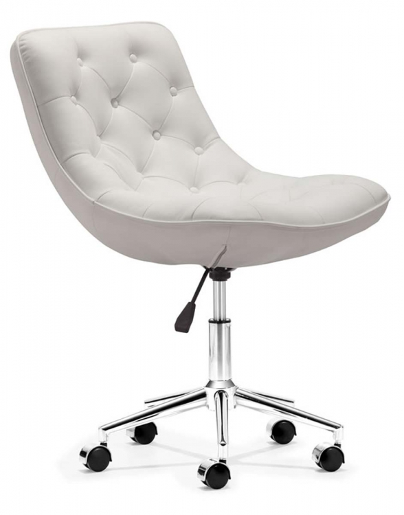 Bon Bon Office Chair - White - Zuo Modern