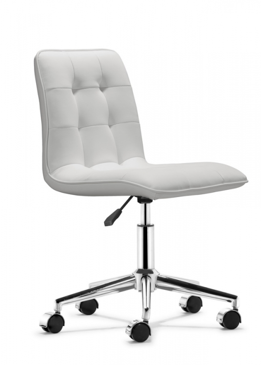 Scout Office Chair - White - Zuo Modern
