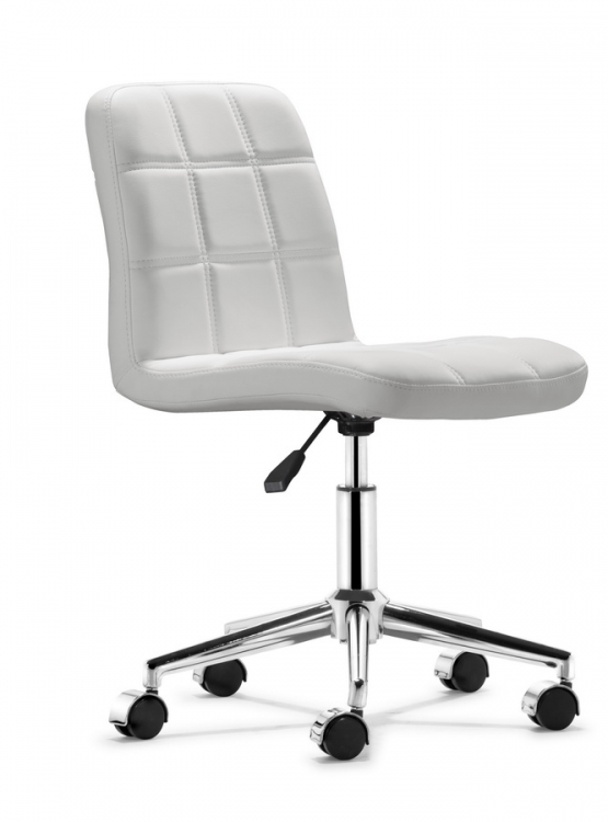 Agent Office Chair - White - Zuo Modern
