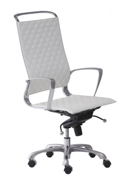 Jackson High Back Office Chair - White - Zuo Modern