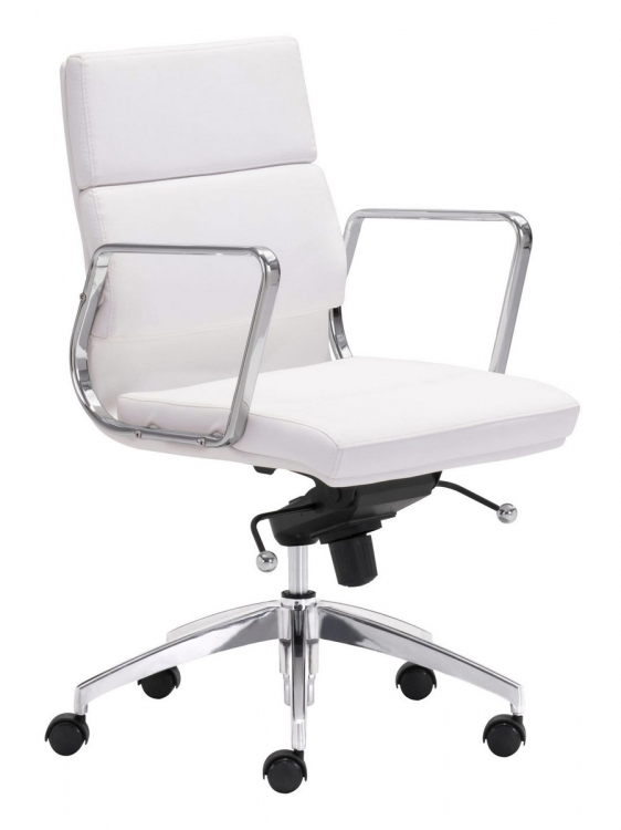 Engineer Low Back Office Chair - White
