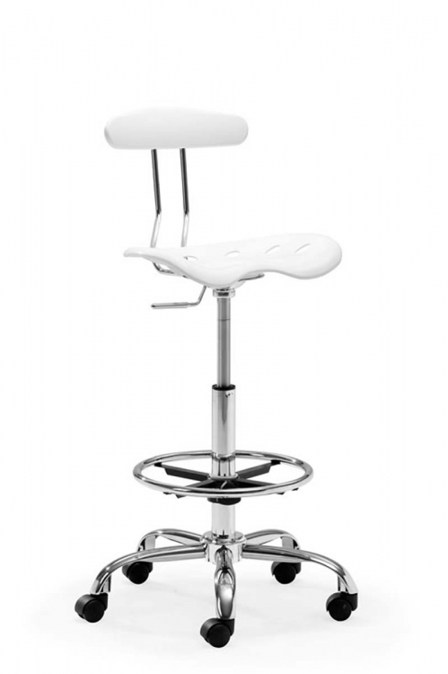 Farallon Drafters Chair - White - Zuo Modern