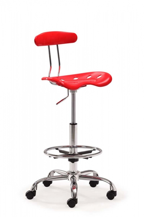 Farallon Drafters Chair - Red - Zuo Modern