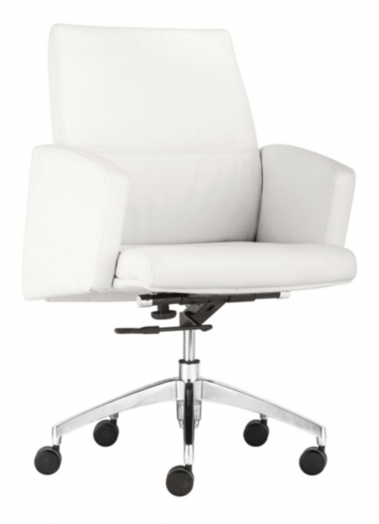 Chieftain Low Back Office Chair - White