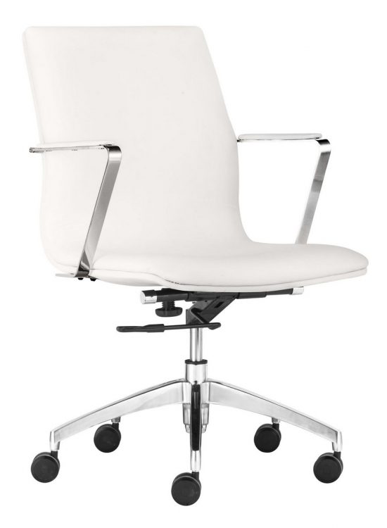 Herald Low Back Office Chair - White