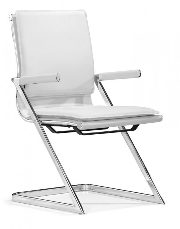 Lider Plus Conference Chair - White - Zuo Modern