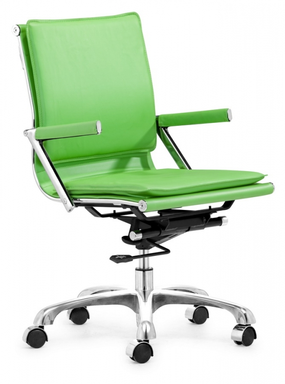Lider Plus Office Chair - Green - Zuo Modern