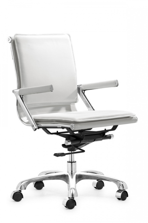 Lider Plus Office Chair - White - Zuo Modern