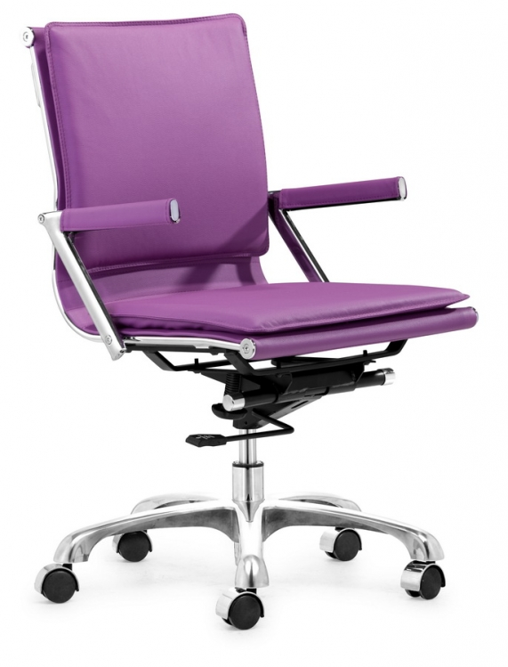 Lider Plus Office Chair - Purple - Zuo Modern
