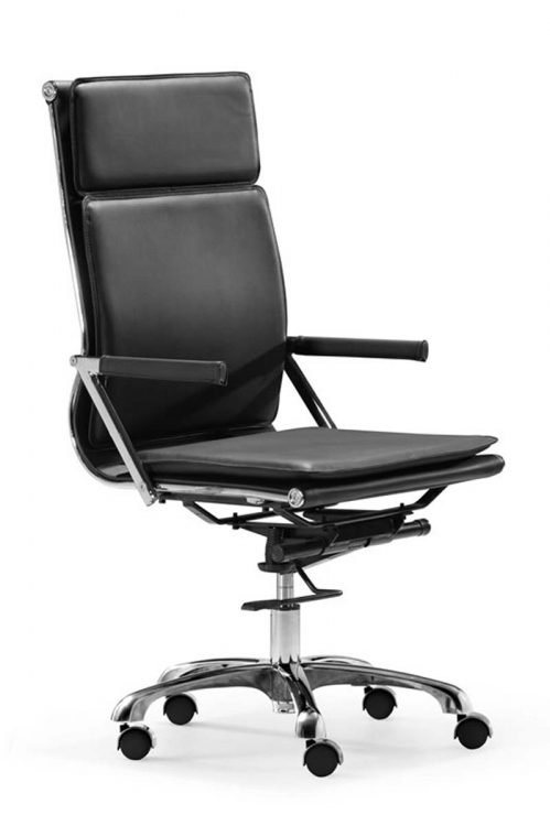 Lider Plus High Back Office Chair - Black - Zuo Modern