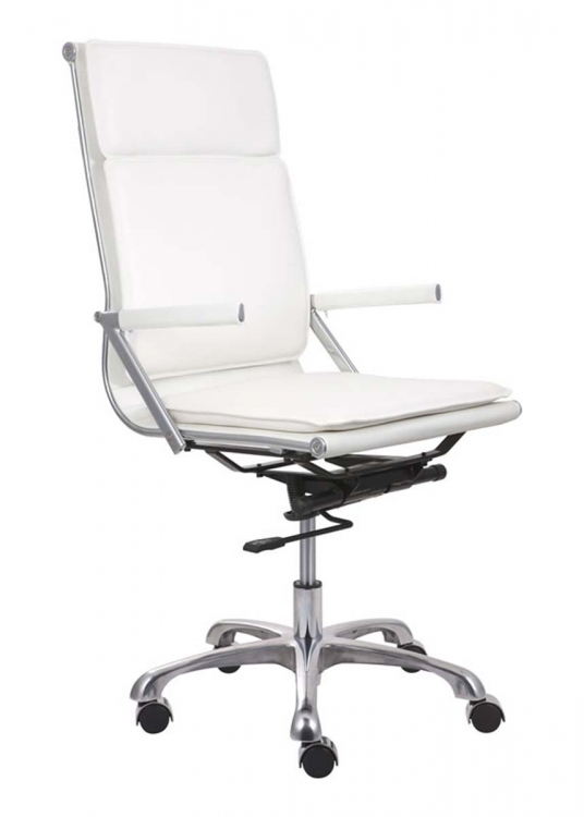 Lider Plus High Back Office Chair - White - Zuo Modern