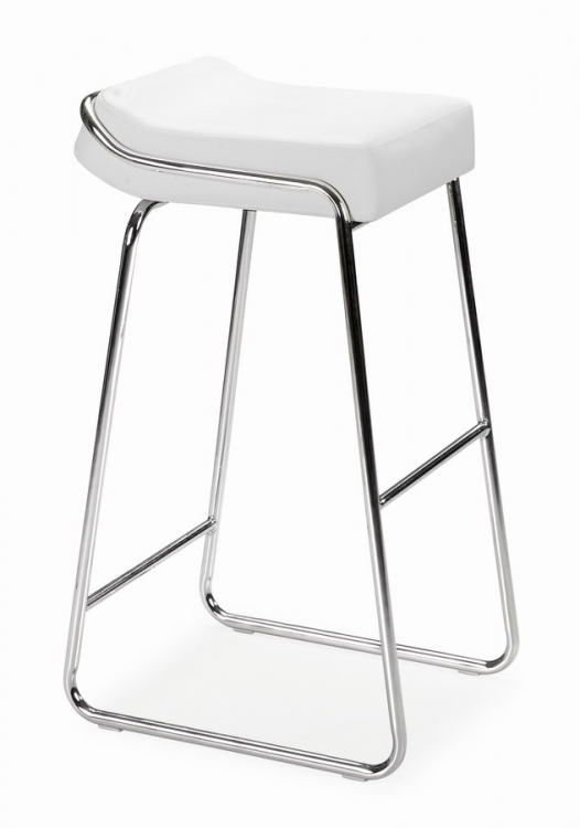Wedge Barstool - White - Zuo Modern