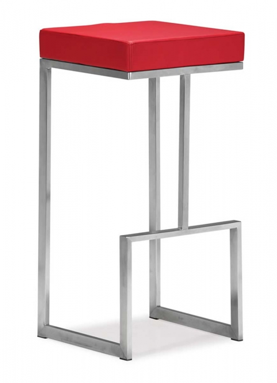 Darwen Bar Chair - Red