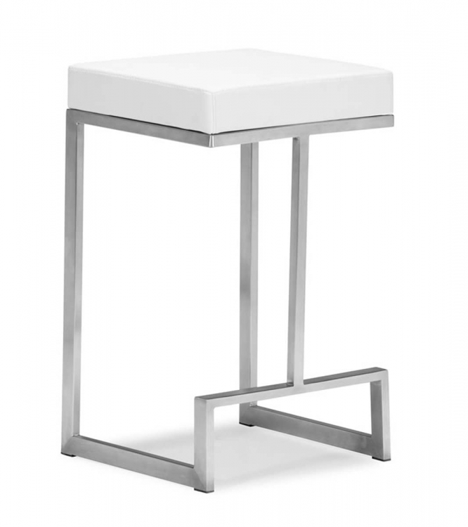Darwen Counter Chair - White - Zuo Modern