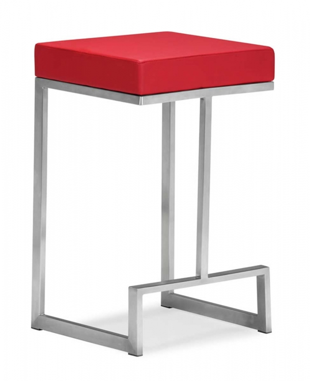 Darwen Counter Chair - Red - Zuo Modern