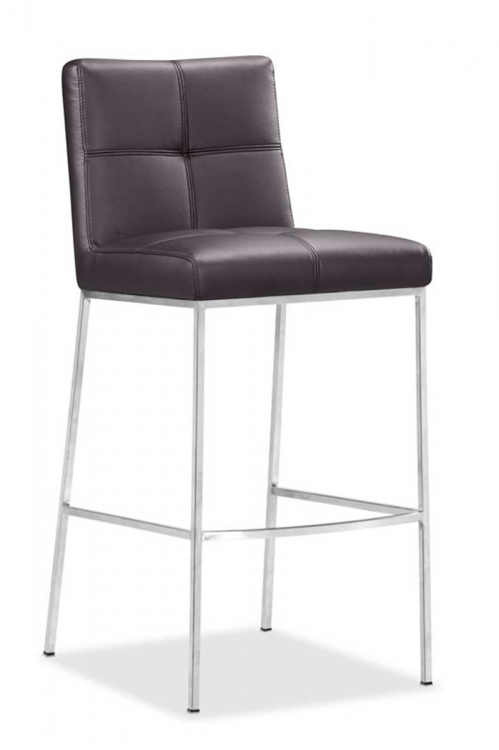 Box Bar Chair - Espresso - Zuo Modern