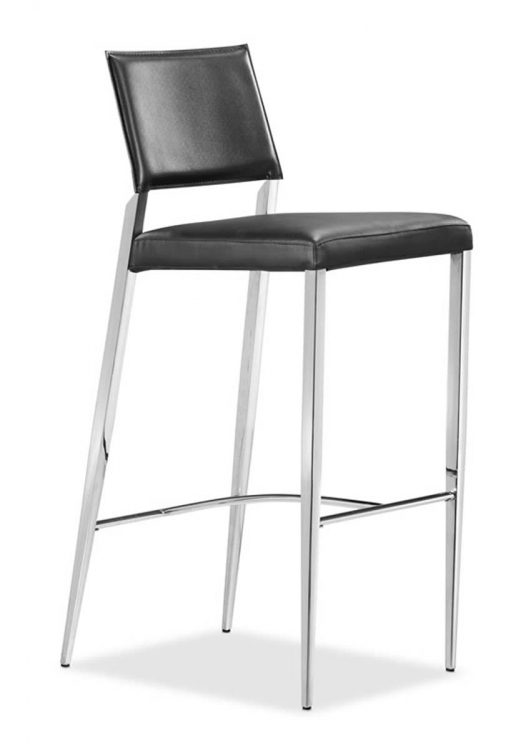 Flick Bar Chair - Black - Zuo Modern