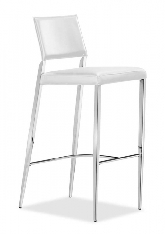 Flick Bar Chair - White