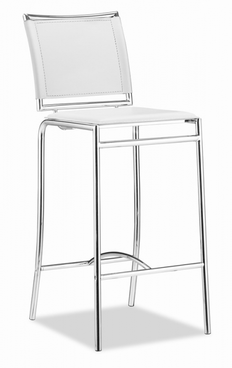Soar Bar Chair - White - Zuo Modern