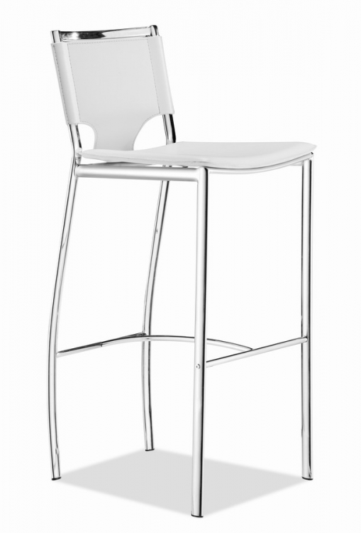 Lark Bar Chair - White - Zuo Modern