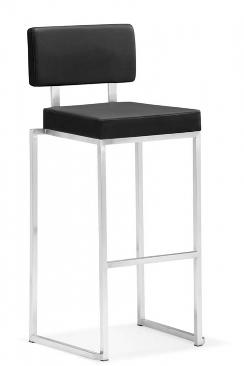 Decade Bar Chair - Black - Zuo Modern