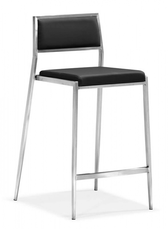 Dolemite Counter Chair - Black - Zuo Modern