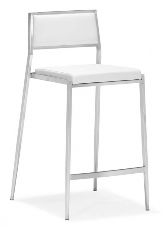 Dolemite Counter Chair - White - Zuo Modern