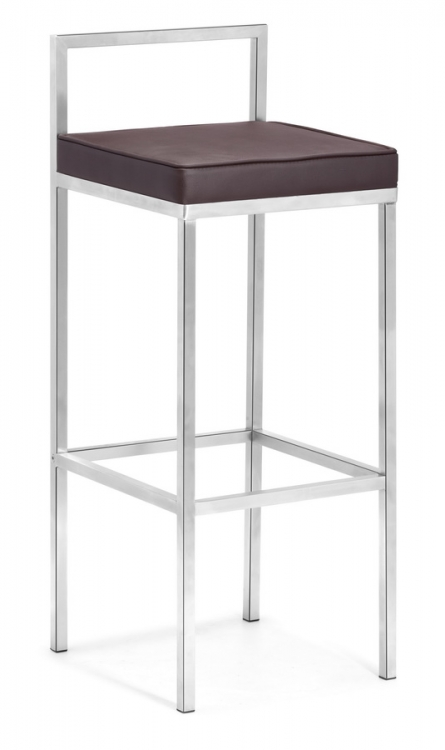 Industry Barstool Brown - Zuo Modern