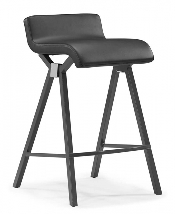Xert Counter Chair - Gray - Zuo Modern
