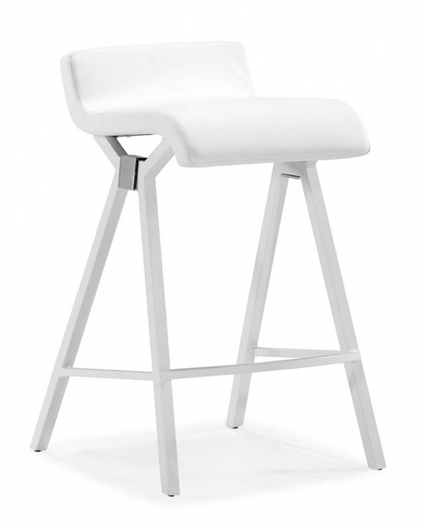 Xert Counter Chair - White - Zuo Modern