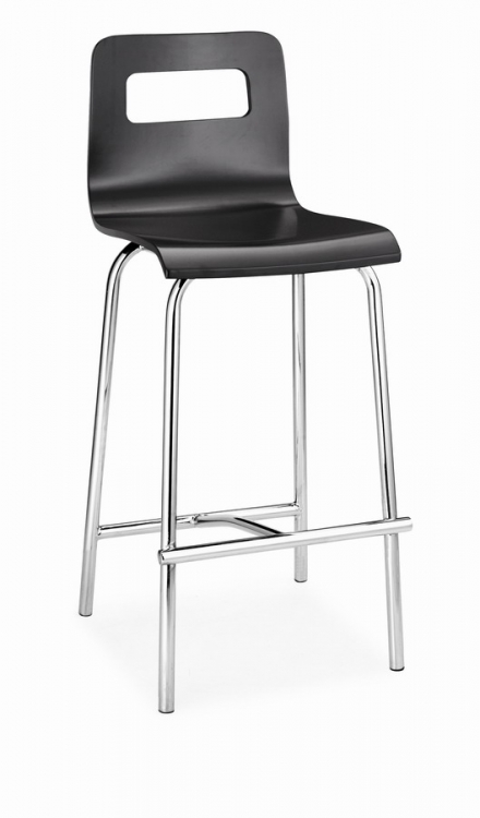 Escape Counter Chair - Black - Zuo Modern