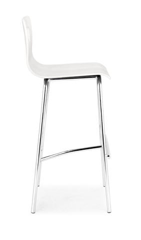 Escape Counter Chair - White - Zuo Modern