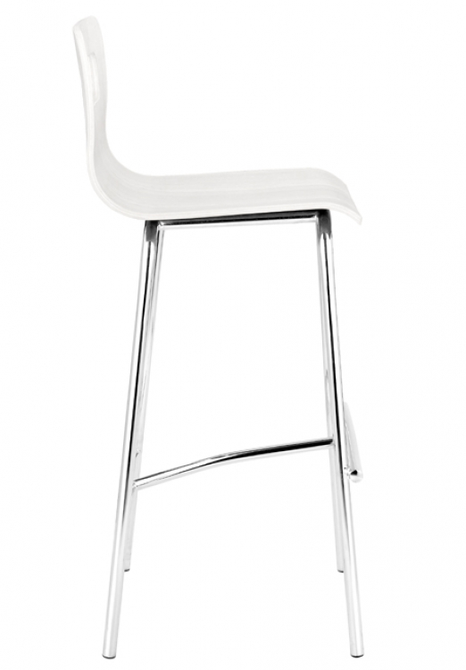 Escape Barstool - White - Zuo Modern