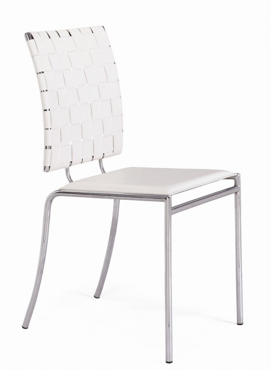Criss Cross Dining Chair - White - Zuo Modern