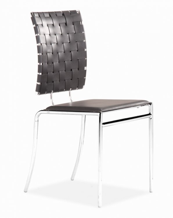 Criss Cross Dining Chair - Black - Zuo Modern